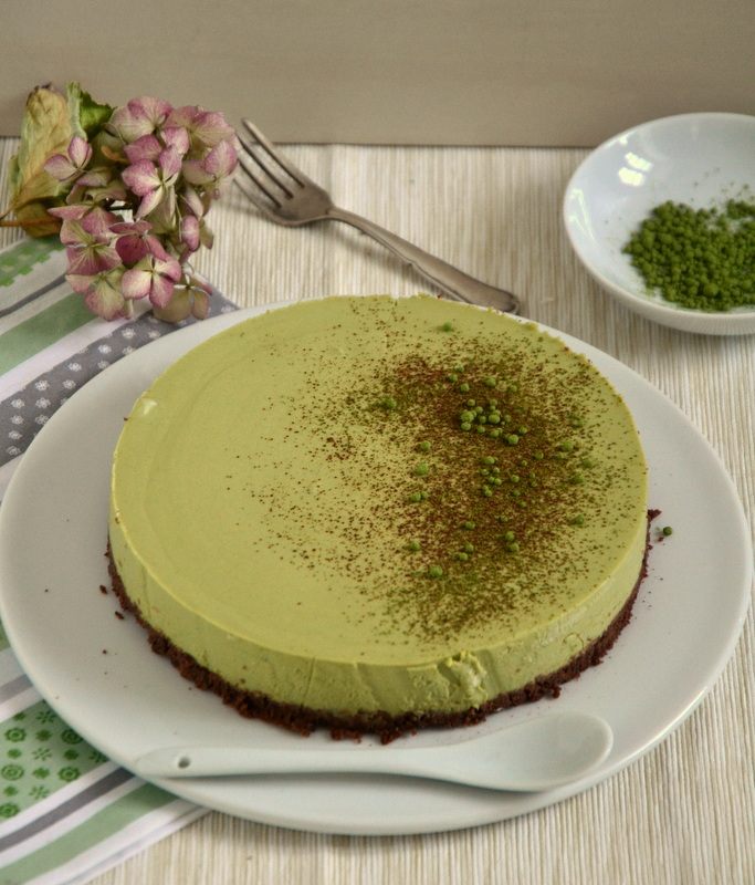 No Bake Matcha Cheesecake Kuchen Ohne Backen